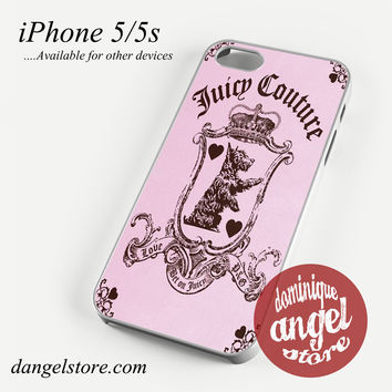 Juicy Couture Pink Phone case for iPhone 4/4s/5/5c/5s/6/6s/6 plus