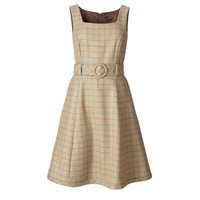 Wool Check Dress/OR