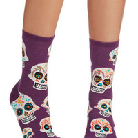 ModCloth Quirky Get a Head Start Socks