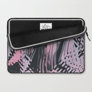 No Small Talk Laptop Sleeve by duckyb