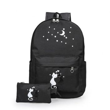 University College Backpack printing cute cat nylon women  schoolbag for girls teenage high school back pack female  wind casual bagpack newAT_63_4