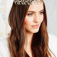Leaf Headband in Gold - Urban Outfitters