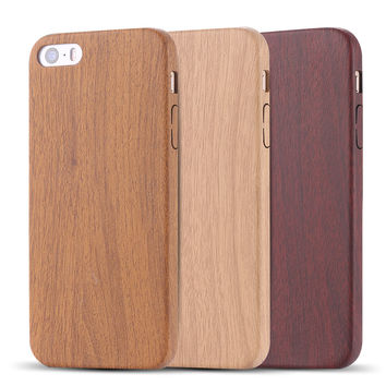 For iPhone 7 6 6s Plus Case Retro Vintage Wood Pattern Leather PU Case Ultra Slim Back Cover
