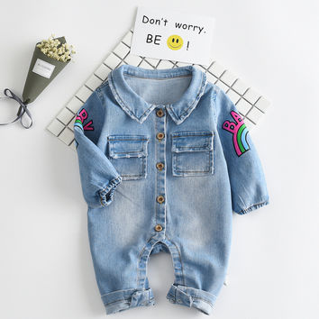 T boy jumpsuits baby cartoon cowboy long-sleeved Rompers kinds garments baby clothing infant rompers