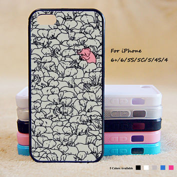 Cute 2 Elephant Phone Case For iPhone 6 Plus For iPhone 6 For iPhone 5/5S For iPhone 4/4S For iPhone 5C3