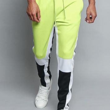Tri Colored Color Blocked Track Pants TR540 - C1I