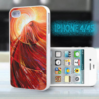 unique iphone case,glitter i phone 4 4s case,cool cute iphone4 iphone4s case,stylish  plastic rubber cases, colorful abstract girl, bp929