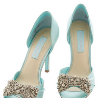 Betsey Johnson Betsey Johnson Dancing Gleam Heel in Crystal Blue