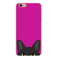 Rose Red Cat Case Cover for iPhone 6 6s Plus iPhone 7 7plus + Gift Box-461