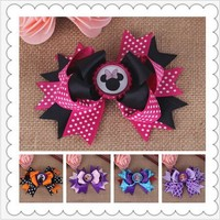 diy flowers minnie hairclip baby girls hair clips for kids women of grosgrain ribbon bows for hair clip bow hairpins accessories