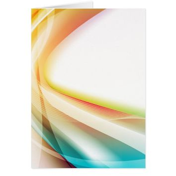 Abstract Swirl 2 (portrait) Card