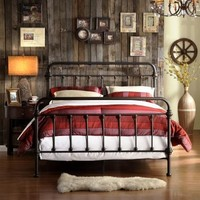 Nottingham Metal Spindle Bed - Antique Dark Bronze - Walmart.com