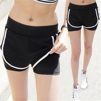Sports Summer Slim Korean Casual Jogging Yoga Pants Shorts [11405550607]