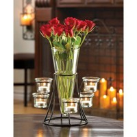 Beautiful Flower Tealight Candle Stand