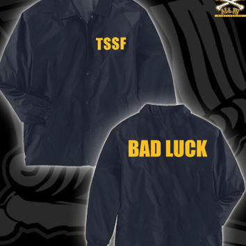 TSSF BAD LUCK JACKET ON NAVY
