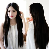 New 75cm Heat Resistant Womens Lady Long Straight Hair Full Wigs Cosplay Party