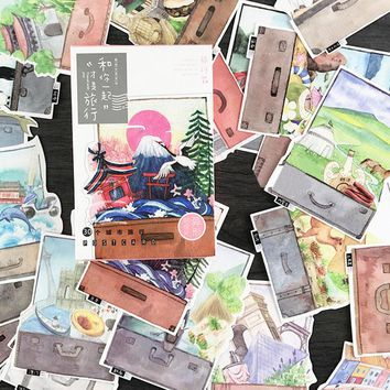 30 pcs/lot Travel with you postcard novelty scenery heteromorphism greeting card christmas card birthday message card gift cards