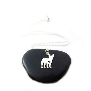 French Bulldog Necklace - Sterling Silver Jewelry