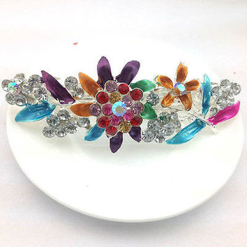 Women Hair Clips Hairpin Vintage Rhinestone Jewelry Lovely spring clip Hair 3C