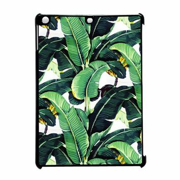 Cute Tropical Banana Leaf Pattern 2 iPad Air Case