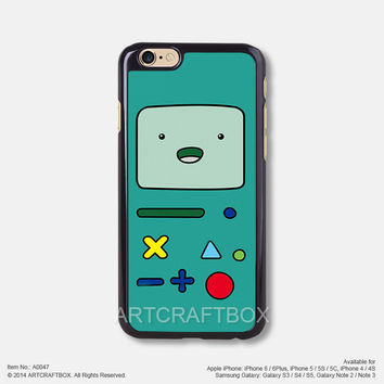Green vintage game boy iPhone Case Black Hard case 047
