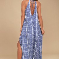 Tavik Farleigh Blue Print Maxi Dress