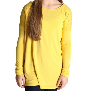 Mustard Piko Kids Long Sleeve Top