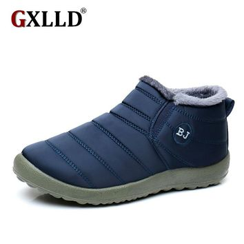 2016 New Women Winter Shoes Solid Color Snow Boots Cotton Inside Antiskid Bottom Keep Warm Waterproof Ski Boots,size 44