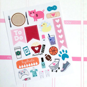 Sample Pack Life Planner Stickers- 25 count