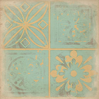 Peachy Blue Geometric prints wall grouping, soft pastels wall decor, spring summer home decor