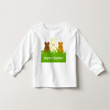 Cute Easter Bunnies Toddler Long Sleeve T-Shirt