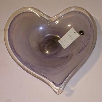 Chirico Vetrerie Murano Art Glass Heart Shaped Bowl.