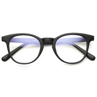 Dapper Indie Round Keyhole Fashion Clear Lens Glasses 8910