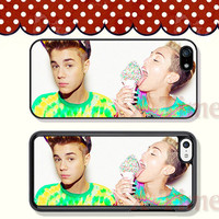 Miley Cyrus Justin Bieber, iPhone 5 case iPhone 5c case iPhone 5s case iPhone 4 case iPhone 4s case, Samsung Galaxy S3 \S4 Case --X50907