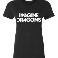 2017 IMAGINE DRAGONS print funny Tshirt Women summer Cotton Casual punk slim tops tee fashion brand harajuku cute female t-shirt
