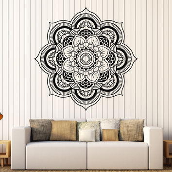 Vinyl Wall Decal Mandala Bedroom Decor Flower Patterns Stickers Mural (119ig)