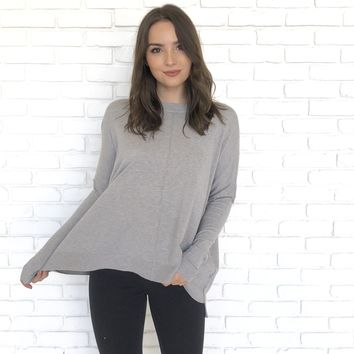 Soft To The Touch Grey Sweater