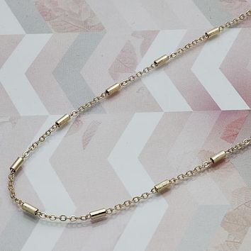 Gold Layered Women Fancy Necklace, by Folks Jewelry