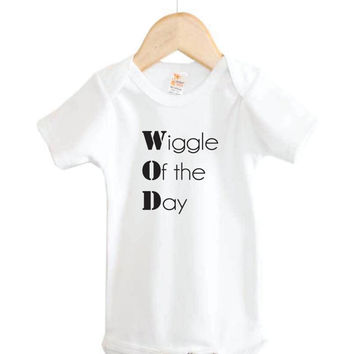 Baby Onesuit // Crossfit Onesuit // Wiggle of the Day Onesuit // fitness // WOD
