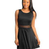 DONNA BLACK SKATER DRESS