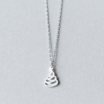 Christmas gifts-925 sterling silver hollow out Christmas tree necklace+ Nice gift box ALQ
