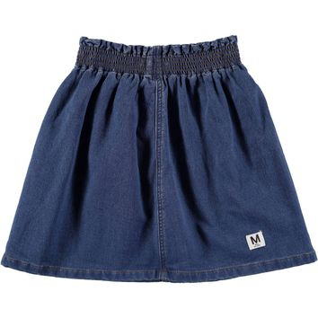 Molo Girls' Washed Denim Blue BECCA Skirt