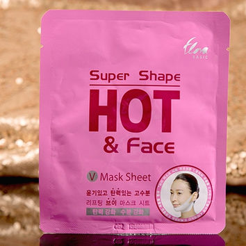 V-Shaped Face Slimming Facial Mask Paste One Piece Eliminate Edema Tyra Firming = 1958467012