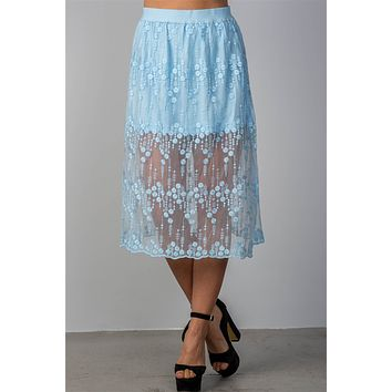 Lined Lace Skirt