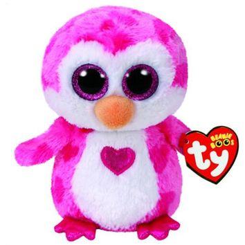 "Pyoopeo Ty Beanie Boos 6"" 15cm Juliet the Penguin Plush Regular Stuffed Animal Collection Soft Big Eyes Doll Toy"