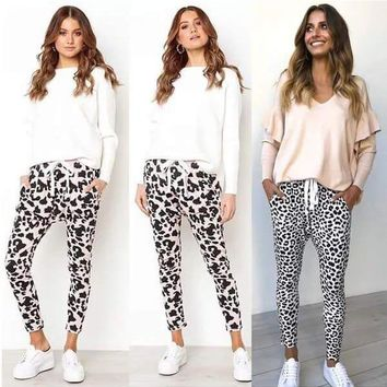 Animal Print Jogger Lounge Pants
