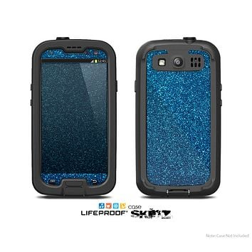 The Blue Sparkly Glitter Ultra Metallic Skin For The Samsung Galaxy S3 LifeProof Case