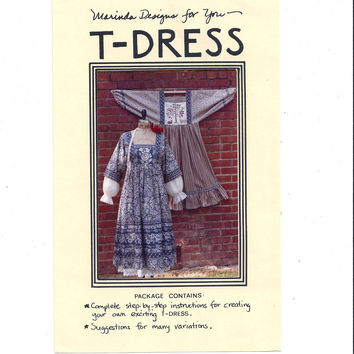 1985 Pattern for T-Dress, by Marinda Designs, UNCUT & UNUSED, Vintage Pattern, Home Sew Pattern, Marinda Brown Stewart, 1985 Fashion Sewing