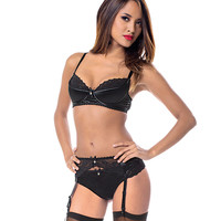 Simply Sexy Satin and Lace Bra Set