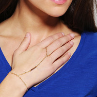 Urban Outfitters - Delicate Ring-To-Wrist Bracelet